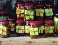 Jars of tofu