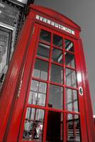 London. Phone Box and Big Ben (2008 © Alan Copson)