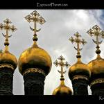 """Cathedral domes in the Kremlin"" by ExposedPlanet"