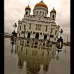 """Rainy Cathedral of Christ the Saviour in Moscow, R"" by ExposedPlanet"
