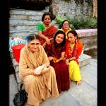"""5 Hindi ladies in Pashupatinath temple, Kathmandu,"" by ExposedPlanet"