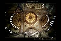 Main domes of the Blue Mosque in Istanbul
