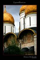 Domes of the kremlin, Moscow, russia