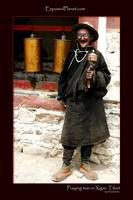Praying man in Xigar, Tibet
