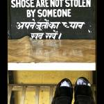 """Stolen Shoes sign at Dharamsala, India"" by ExposedPlanet"