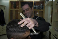 Barbershop in Palestine