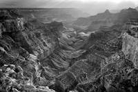 Grand Canyon Afternoon B&W