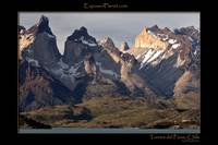 Torres del Paine, Patagonia, Chile from Pahoe