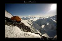 Camp 2 at 7600 meter on Everest, Tibet