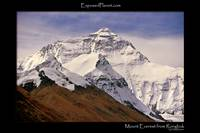 Mount Everest from Rongbuk monastery, Tibet