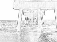 Jacksonville Pier Photo Drawing