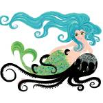 """Mermaid on Octopus"" by WinnieFitch"