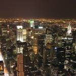 """New York City at night"" by midwinter"