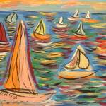 """""""Sailboats"""" by artbycassiday"""
