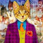 """""""Carnival Cat"""" by Sprouseart"""