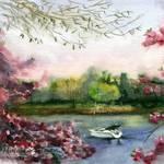 """""""Mamaroneck in April"""" by schulmanart"""