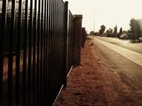 fence at Chandler High