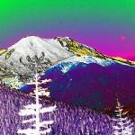 """Painted Mt Rainer"" by JulieCJohnson"