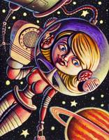 Space Girl w/phone