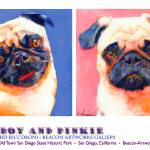 """Blueboy and Pinkie Poster by Riccoboni"" by RDRiccoboni"