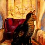 """Alley Cat Sunny Chair"" by hickerson"