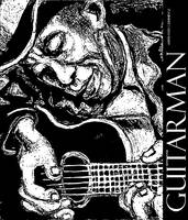 Guitarman Poster in Black and White