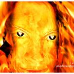 """Mujer ardiendo"" by luysx"