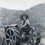 """Aunt Teen on her Tractor"" by sdonley"