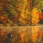 """Lake Lac Su An Fall Reflection"" by RichardBaumer"