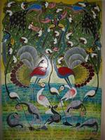 birds on paradise 65.5x40in