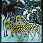 """leopards and geraffe"" by saidart"