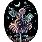 """Bee Night Worker"" by LisaHaney"