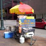"""Sidewalk grill. 16th Street Mall, downtown Denver"" by embassy"
