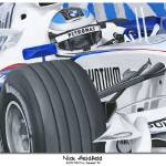 """Poster Format - Nick Heidfeld 2007"" by Kart-Race-Art"