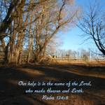 """""""Our Help is in the Name of the Lord"""" by jyvonne"""