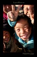 Happy kids in Tibet