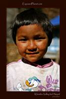 Khumbu Valley kid with donald duck shirt