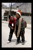 Tibetan children in Nyalam
