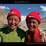 """Globalisation: Swoosh Tibet, young girls Nike hats"" by ExposedPlanet"