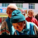 """Curious children in Xigar, Tibet"" by ExposedPlanet"