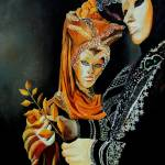 """two masks in Venice"" by pol"