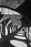 Mission San Jose: Black and White Arches 1