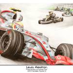 """Poster Format: Lewis Hamilton 2007"" by Kart-Race-Art"