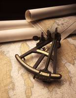An octant with navigation maps.