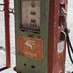 """Old Gas Pump:Mixed Color with Black and White"" by PaulHuchton"