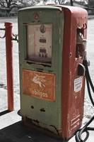 Old Gas Pump:Mixed Color with Black and White