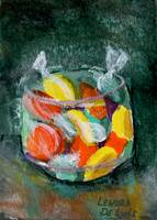 Colorful Art; Candy in Glass Jar