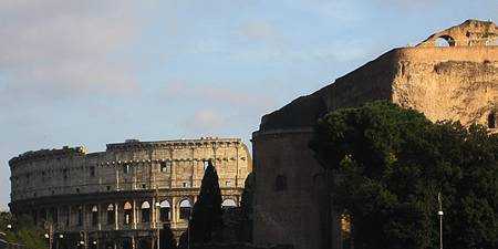 Colosseum and Forum Wall