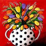 """""""Tulips In Polka dots"""" by reniebritenbucher"""