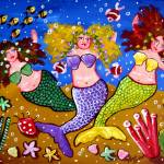 """3 Mermaids Party"" by reniebritenbucher"